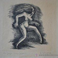Arte: 1948 -INTERESANTE GRABADO EROTICO TITULADO, FIRMADO Y DATADO. Lote 36521416