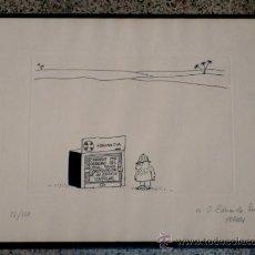 Arte: GRABADO DE EL PERICH.DEDICADO A EDUARDO PARDO.82/120. Lote 36792167