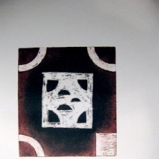 Arte: JUAN CRUZ-PLAZA. HIPERCUBO. II. GRABADO ORIGINAL. Lote 36635165