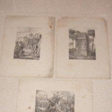 Arte: LOTE 3 GRABADOS SIGLO XIX. GUERRAS PÚNICAS. ESCIPIÓN. ROMA. GRAN FORMATO.. Lote 36761243