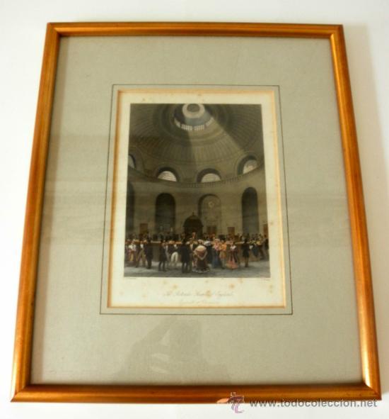 ANTIGUO GRABADO ENMARCADO DEL BANCO DE INGLATERRA * T.H SHEPHARD (Arte - Grabados - Modernos siglo XIX)