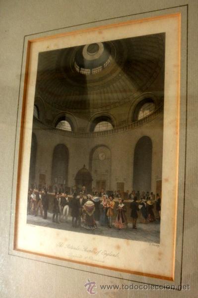 Arte: ANTIGUO GRABADO ENMARCADO DEL BANCO DE INGLATERRA * T.H SHEPHARD - Foto 3 - 36788641