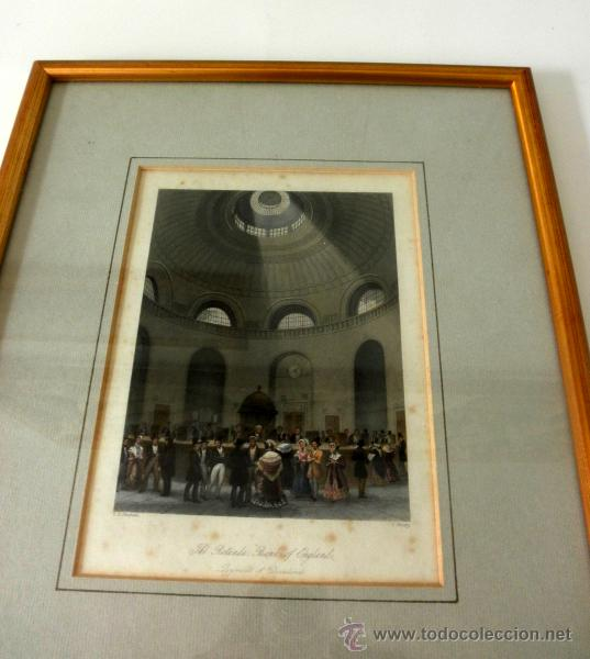 Arte: ANTIGUO GRABADO ENMARCADO DEL BANCO DE INGLATERRA * T.H SHEPHARD - Foto 6 - 36788641