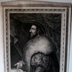 Arte: GRABADO DE 1791 DEL GENERAL ANTONIO DE LEIVA. GRABADO POR B.VAZQUEZ. Lote 36836306