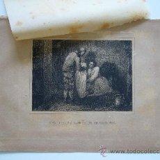 Arte: GRABADO ANTIGUO DE FINALES DEL SIGLO XIX. SCHILLER DANDO A SILVIO PELLICO UNA CAMISA SUYA.. Lote 36949067
