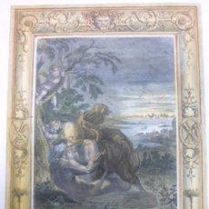Arte: TITÓN CONVERTIDO EN CIGARRA, 1733, BERNARD PICART. Lote 37086472