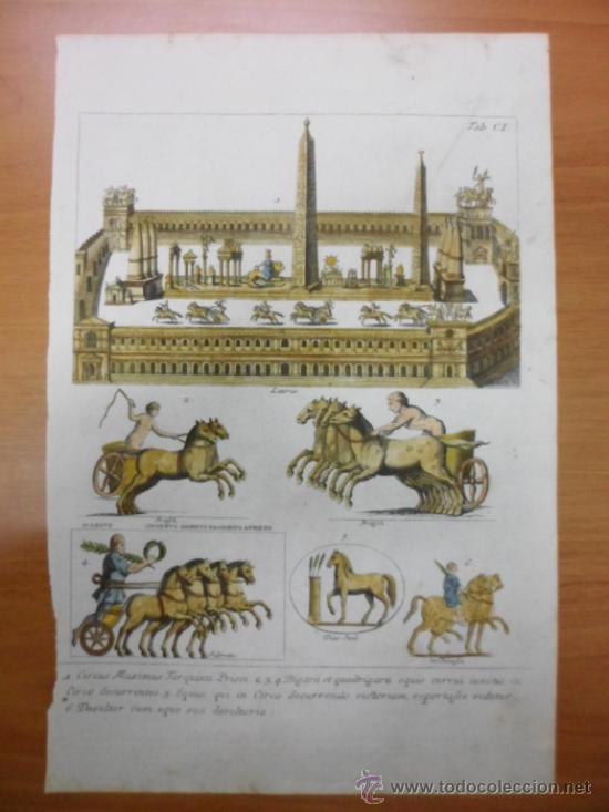 Arte: Circo Máximo de Roma, 1757, Montfaucon - Foto 3 - 37117879