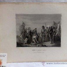 Arte: ROUGET PINXIT.- LEFÉVRE SC..- IMPR. F. CHARDON .-HENRI IV DEVANT PARIS.- AOÛT 1590.. Lote 37302406