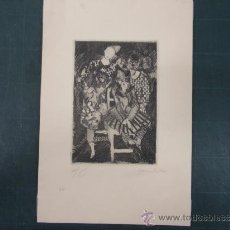 Arte: EMILIO GRAU SALA. PERSONAJES DEL CIRCO. GRABADO. Lote 37500249