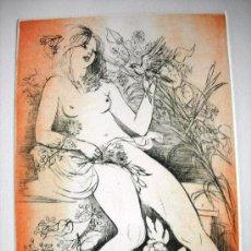 Arte: PRECIOSO GRABADO - PRUEBA DE ARTISTA DE AMANDINE DORE - ARTISTA REFERENCIADA - FIRMADO. Lote 37450023