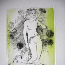 Arte: PRECIOSO GRABADO - PRUEBA DE ARTISTA DE AMANDINE DORE - ARTISTA REFERENCIADA - FIRMADO. Lote 37450050