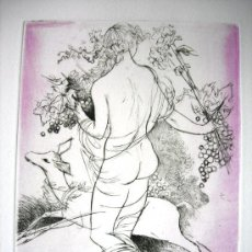 Arte: PRECIOSO GRABADO - PRUEBA DE ARTISTA DE AMANDINE DORE - ARTISTA REFERENCIADA - FIRMADO. Lote 37450058