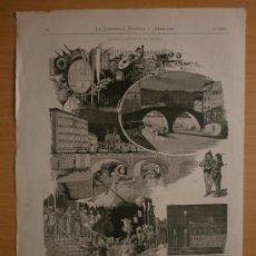 Arte: BILBAO,FIESTA EN LA RIA.GUINEA.TOMO ILUSTRACION ESPAÑOLA Y AMERICANA FINALES 1800.. Lote 37645409