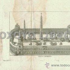 Arte: GRABADO SIGLO XVIII. CIRCO ANTIGUO. 12X16 CM. . Lote 37660579