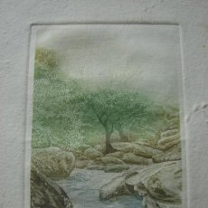 Arte: GRABADO. PAISAJE. FIRMADO Y NUMERADO.. Lote 37662853