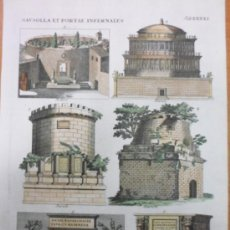 Arte: MAUSOLEOS ROMANOS, 1757, BERNARD DE MONTFAUCON. Lote 37682511