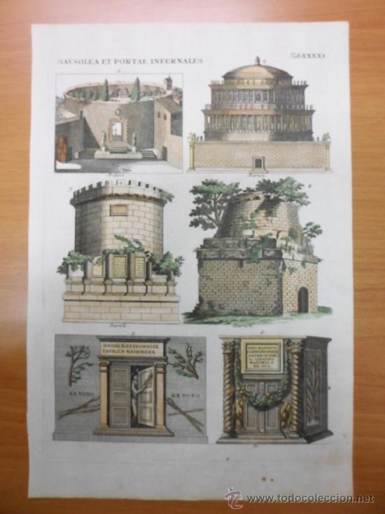 Arte: Mausoleos romanos, 1757, Bernard de Montfaucon - Foto 2 - 37682511