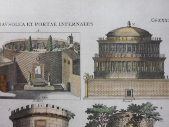 Arte: Mausoleos romanos, 1757, Bernard de Montfaucon - Foto 5 - 37682511