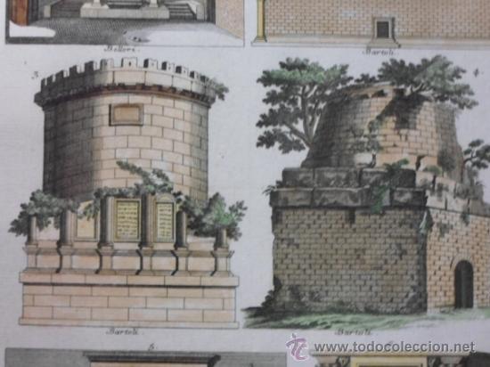 Arte: Mausoleos romanos, 1757, Bernard de Montfaucon - Foto 4 - 37682511