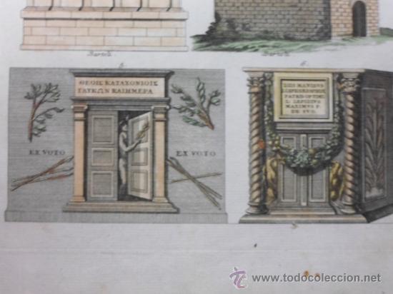 Arte: Mausoleos romanos, 1757, Bernard de Montfaucon - Foto 6 - 37682511