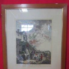 Arte: PRECIOSO GRABADO. LA GROTE DU MARECHAL. FIRMADA P. WOUVERMENS.. Lote 27652092