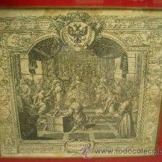 Arte: GRABADO ANTIGUO RUSO DEL SIGLO XVIII. CON MOTIVOS DE LA CORTE.. Lote 37747786