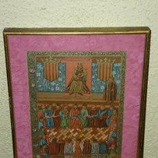 Arte: GRABADO- JAIME I PRESIDIENDO LAS CORTES DE LLEIDA - 3 DE MARZO DE 1242.. Lote 37783180