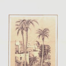 Arte: GRABADO DE CREVILLENTE LA HERMITA DEL PONT CARLOS QUESADA-- VER FOTOGRAFIA ADICIONAL. Lote 37783579