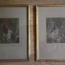 Arte: EXTRAORDINARIA PAREJA CUADROS GRABADOS FRANCESES SIGLO XVIII: LES ESTAMPES DU XVIII SIECLE. Lote 232551330
