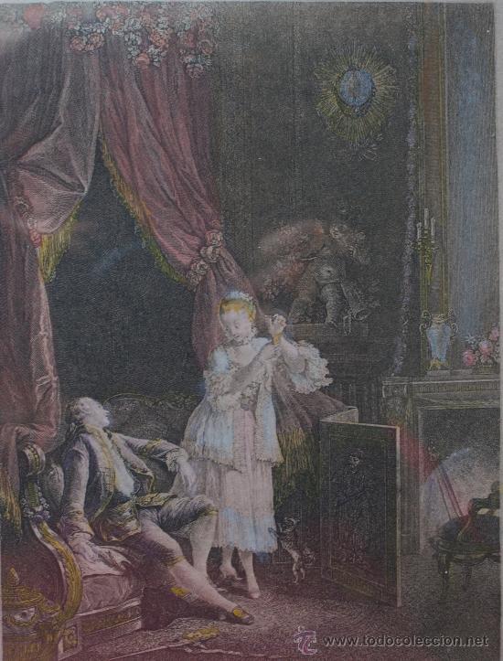 Arte: EXTRAORDINARIA PAREJA CUADROS GRABADOS FRANCESES SIGLO XVIII: LES ESTAMPES DU XVIII SIECLE - Foto 3 - 232551330