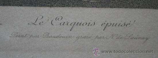 Arte: EXTRAORDINARIA PAREJA CUADROS GRABADOS FRANCESES SIGLO XVIII: LES ESTAMPES DU XVIII SIECLE - Foto 5 - 232551330
