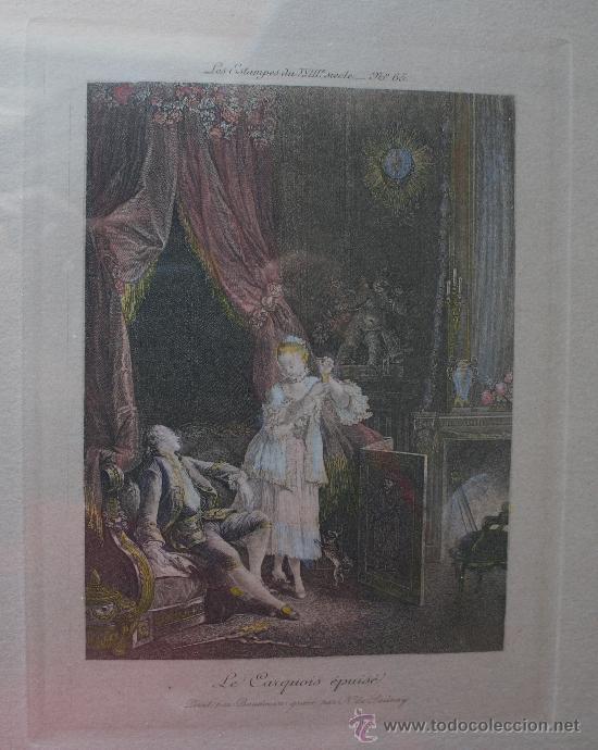 Arte: EXTRAORDINARIA PAREJA CUADROS GRABADOS FRANCESES SIGLO XVIII: LES ESTAMPES DU XVIII SIECLE - Foto 6 - 232551330