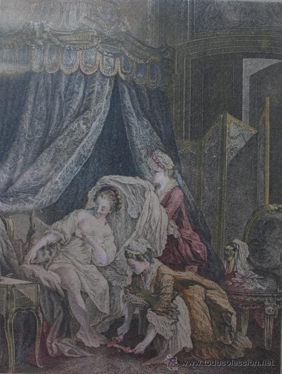 Arte: EXTRAORDINARIA PAREJA CUADROS GRABADOS FRANCESES SIGLO XVIII: LES ESTAMPES DU XVIII SIECLE - Foto 7 - 232551330