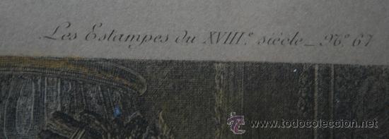 Arte: EXTRAORDINARIA PAREJA CUADROS GRABADOS FRANCESES SIGLO XVIII: LES ESTAMPES DU XVIII SIECLE - Foto 9 - 232551330