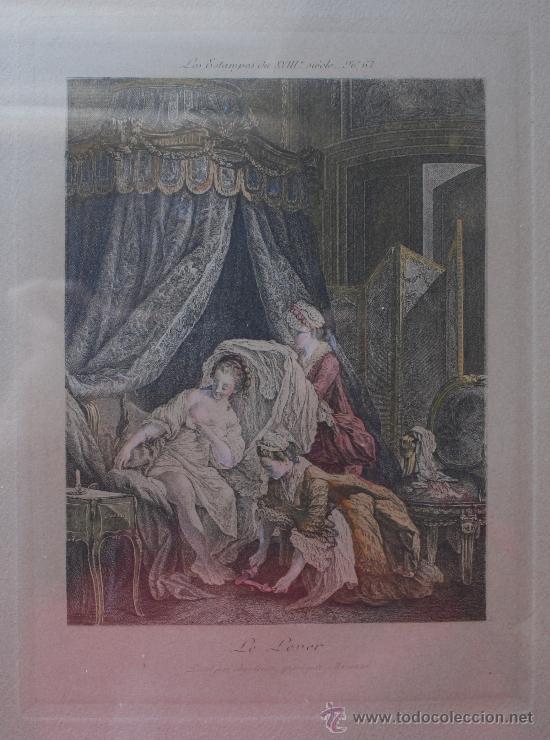 Arte: EXTRAORDINARIA PAREJA CUADROS GRABADOS FRANCESES SIGLO XVIII: LES ESTAMPES DU XVIII SIECLE - Foto 2 - 232551330