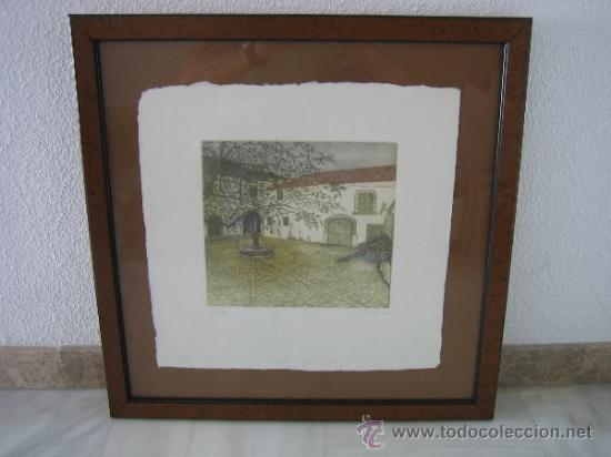 GRABADO DE VIRGINIA. 165/175. MEDIDAS CUADRO 55X55 GRABADO 24X23 CM (Arte - Grabados - Contemporáneos siglo XX)