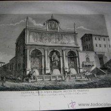 Arte: GRABADO: FONTANA DELL ACQUA PELICE DETTA DI TERMINI, DI ANNO 1586. .VER MEDIDAS, Y DESCRIPCIÓN.. Lote 37895339