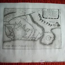 Arte: 1695- MAPA PLANO ORIGINAL DE ROSAS. ROSES. GIRONA. GERONA. ORIGINAL. Lote 38054059