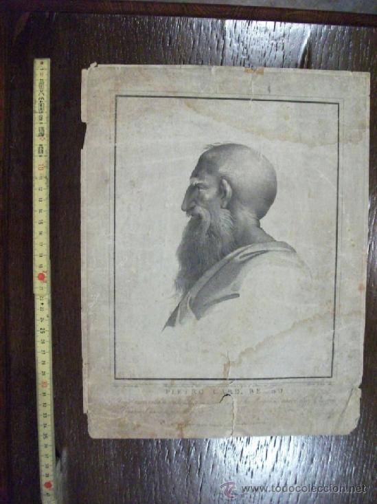 GRABADO S. XVIII SERIE DE FILOSOFOS, PIETRO CARD. BELBO (Arte - Grabados - Antiguos hasta el siglo XVIII)
