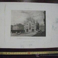 Arte: GRABADO S. XIX DE SANTA MARIA DE LA SPINA EN PISA. . Lote 38270461