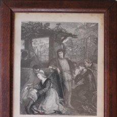 Arte: ANTIGUO GRABADO ORIGINAL SIGLO XIX - GRAN FORMATO - ENMARCADO – FIRMADO Y FECHADO EN 1873. Lote 38329380