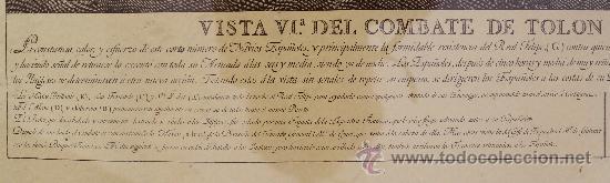 Arte: MAGNIFICO GRABADO BARCOS NAVAL DE SIMON BRIEVA: VISTA VI COMBATE DE TOLON MDCCXLIV SIGLO XVIII - Foto 4 - 38358653