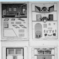 """Arte: FF S. XVIII. LOTE CON 4 LÁMINAS GRABADAS DE TALLER DE CRISTALIZACION Y EXTRACCION DE LA """"SAL""""16 X 22. Lote 38427768"""
