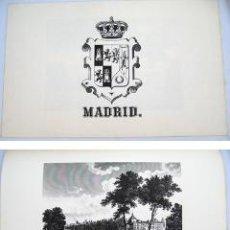 Arte: GRABADO: VISTA DEL PASEO DEL PRADO DE MADRID. 1971. Lote 38502954