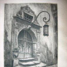 Arte: BELLO GRABADO TITULADO, LOCALIZADO Y FIRMADO. Lote 38573265