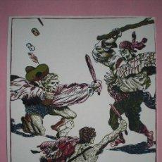 Arte: ANTONIO ZARCO (MADRID, 1930) LINOGRAFÍA Y XILOGRAFÍA 48X38CMS DE 1980 FIRMADA LÁPIZ Y NUMERADA. Lote 38573854