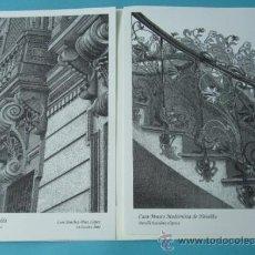 Arte: CARPETA CON DOS GRABADOS. LUIS SÁNCHEZ-DÍEZ LÓPEZ. CASA-MUSEO MODERNISTA DE NOVELDA. Lote 38716139