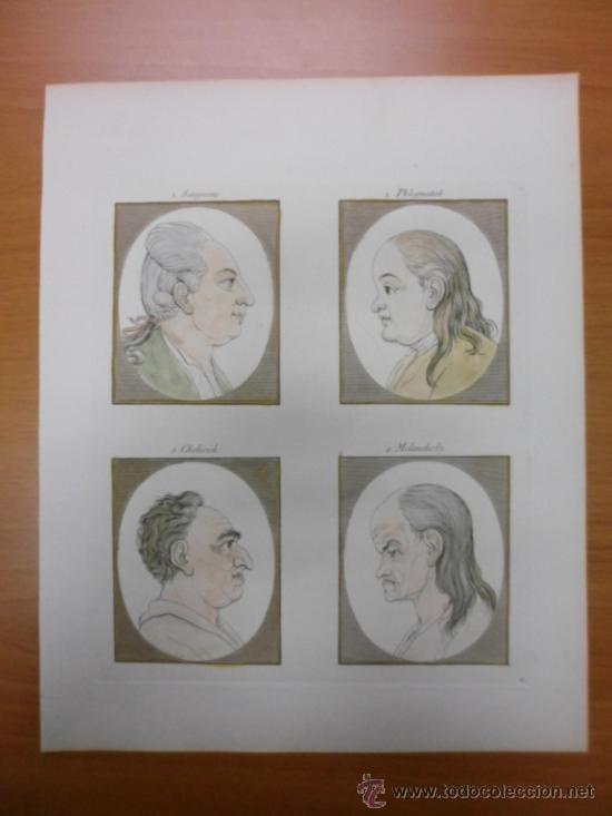 FISIONOMIA HUMANA, 1780, JOHANN GASPAR LAVATER (Arte - Grabados - Antiguos hasta el siglo XVIII)