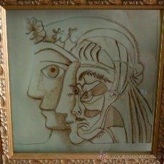 Arte: GRABADO - BAJORRELIEVE EN VIDRIO ESMALTADO A LA GRISALLA A TEMPERATURA DE 575 GR. C.. Lote 38771715