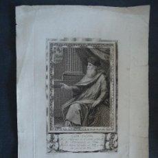 Arte: 'LAIN CALVO' JUEZ SUPREMO DEL CONDADO DE CASTILLA. GRABADO SIGLO XVIII . Lote 38852105